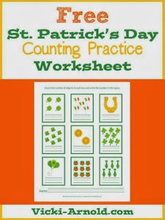 http://www.vicki-arnold.com/2014/03/st-patricks-day-counting-practice-worksheet/