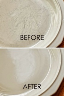 http://www.apartmenttherapy.com/tips-for-cleaning-dinnerware-164790