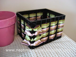 http://naptimejournal.blogspot.ca/2009/06/plastic-basket-weaving-with-ribbon.html